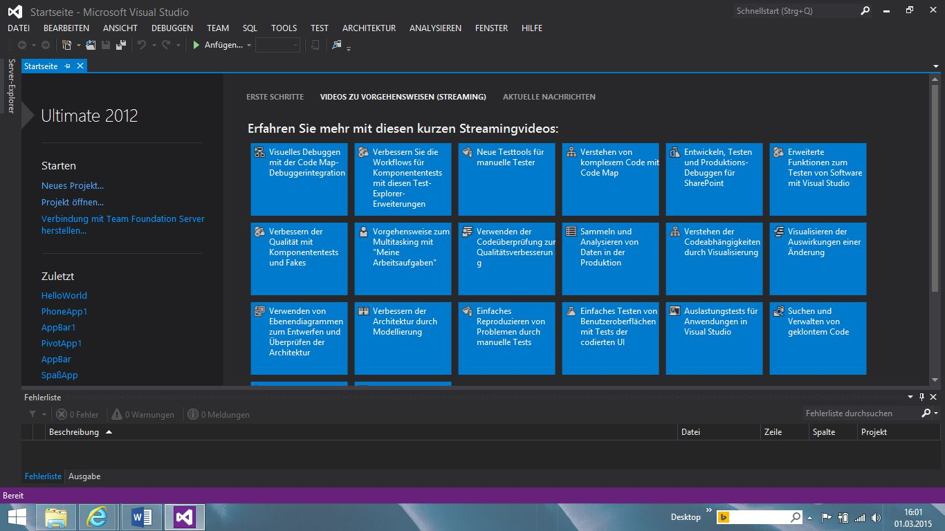 C# Visual Studio Programmieren