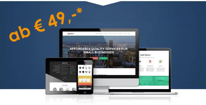 Homepage. Website ab EUR 49